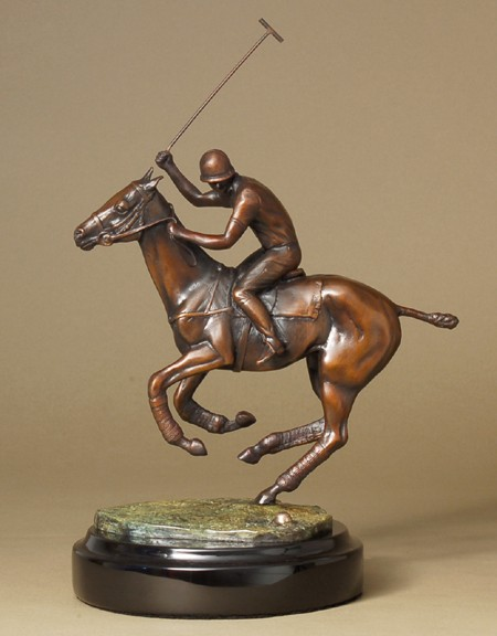 DYNAMIC POLO MATCH PLAYER LIMITED EDITION  BRONZE SCULPTURE