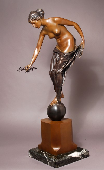 FABULOUS SUPREME LADY OF PEACE  BRONZE SCULPTURE