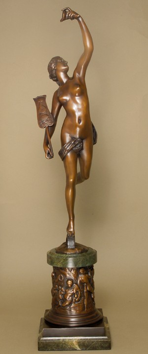 EXQUISITE GLORIOUS ENTICING WOMAN  BRONZE SCULPTURE