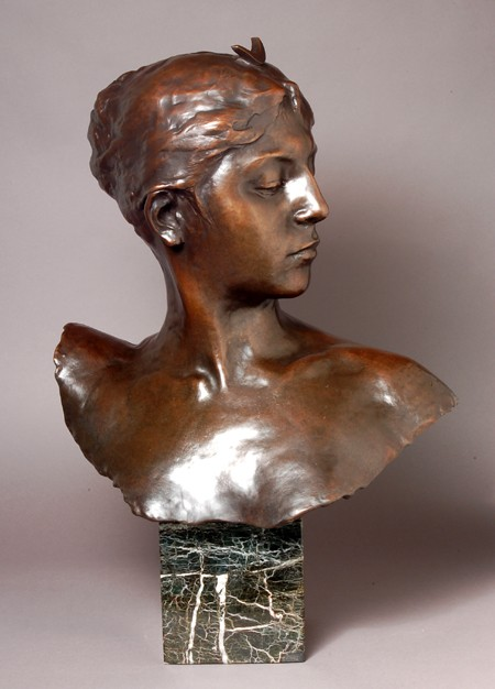 EXQUISITE GORGEOUS BUST OF DIANE  BRONZE SCULPTURE