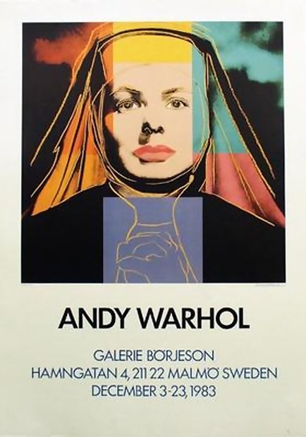 RARE SWEDEN EDITION WARHOL INGRID BERGMAN AS NUN!