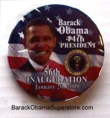 FAB BARACK OBAMA  PRESIDENTIAL INAUGRATION COLLECTIBLE  BTN -14