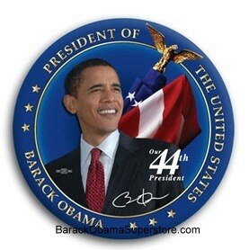 FAB BARACK OBAMA  PRESIDENTIAL COLLECTIBLE  BUTTON