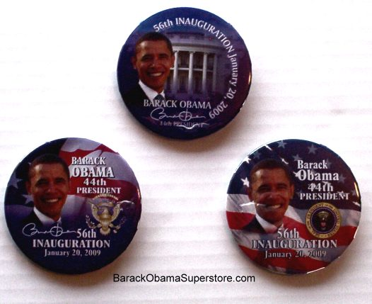 FAB BARACK OBAMA PRESIDENTIAL INAUGURATION COLLECTIBLE BTN SET