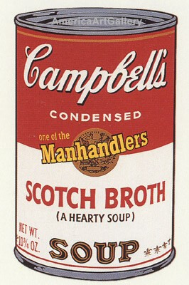 SUNDAY B MORNING WARHOL CAMPBELL SOUP CAN SCREEN PRINT(ScothBr)