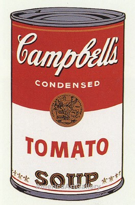 SUNDAY B MORNING WARHOL CAMPBELL SOUP CAN SCREEN PRINT(Tomato)