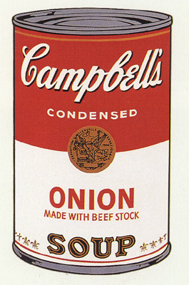 SUNDAY B MORNING WARHOL CAMPBELL SOUP CAN SCREEN PRINT(Onion)