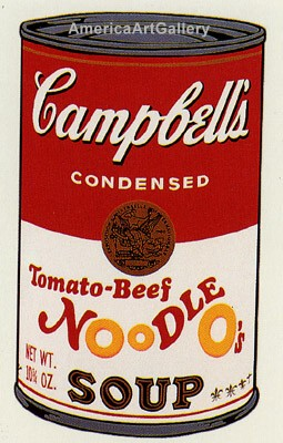 SUNDAY B MORNING WARHOL CAMPBELL SOUP CAN SCREEN PRINT(TomatoB)