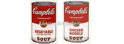 ANDY WARHOL SUNDAY B MORNING CAMPBELL'S SOUP SUITE OF 2