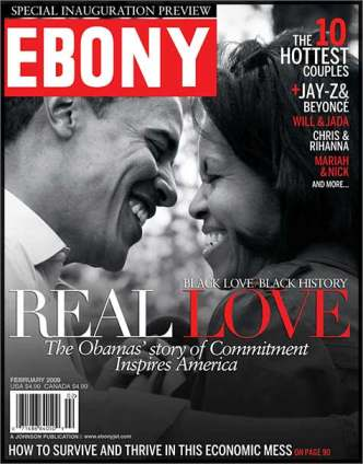 EBONY MAGAZINE BARACK  & MICHELLE OBAMA COVER ISSUE 2009