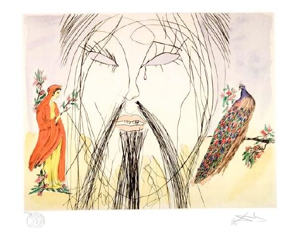 RARE! DALI PARIS PRINTER PROOF SIGNED Ltd Ed CONFUCIUS