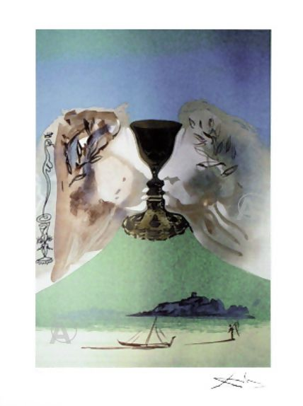 RARE SALVADOR DALI SIGNED Ltd Ed CHALICE OF LOVE w/COA