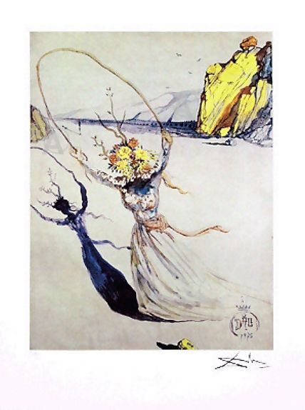 RARE SALVADOR DALI SIGNED Ltd Ed SURREAL PASSAGE w/COA