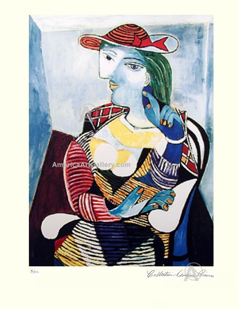 PABLO PICASSO CUBIST LADY MARIE SIGNED S/N Ltd Ed w/COA
