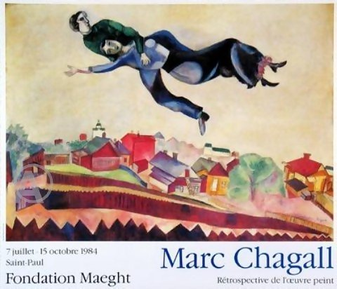CHAGALL FRENCH EXHIBITION MAEGHT LIMITED EDITION PRINT!