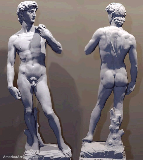 MAGNIFICENT OVERSIZE SCULPTURE OF DAVID by MICHELANGELO