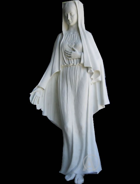 ELEGANT JESUS CHRIST MARY IMMACULATE HEART SCULPTURE
