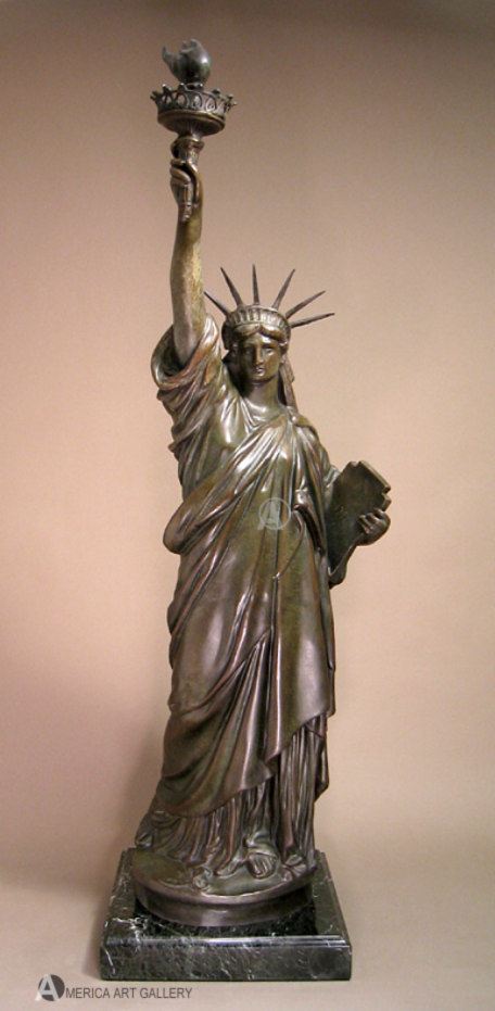 MUST SEE! EXTRAORDINARY BRONZE STATUE OF LIBERTY