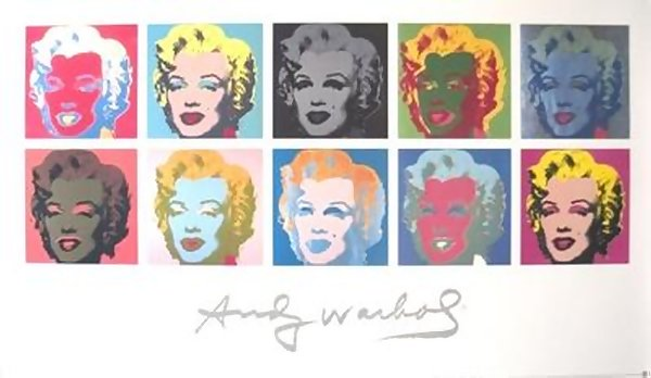 VERY RARE! LIMITED ED ANDY WARHOL 10 MARILYN MONROE