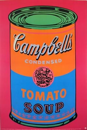 HUGE ANDY WARHOL OFFICIAL AUTHORIZED CAMPBELLS SOUP CAN