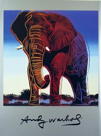 ANDY WARHOL OFFICIAL RARE WILDLIFE AFRICAN ELEPHANT