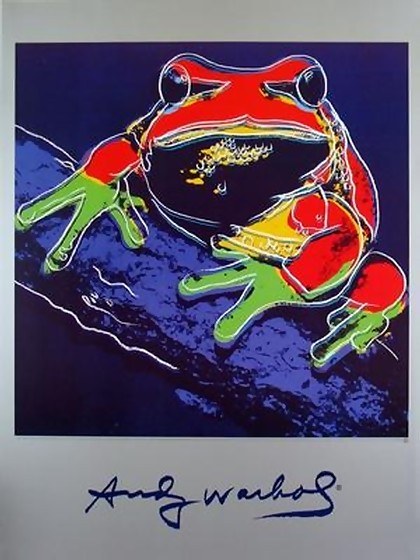 ANDY WARHOL OFFICIAL RARE L/E WILDLIFE FROG PRINT