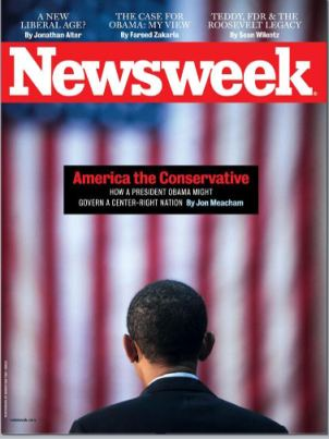NEWSWEEK MAGAZINE BARACK OBAMA CONSERVATIVE COVER ISSUE 2008