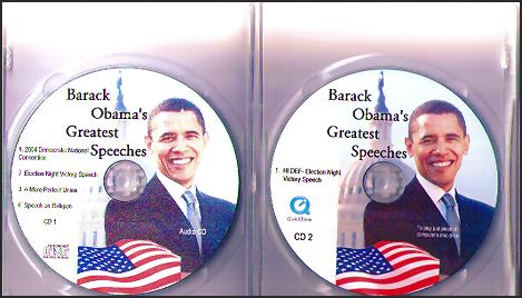 THE GREATEST SPEECHES OF BARACK OBAMA AUDIO CD COLLECTION SET