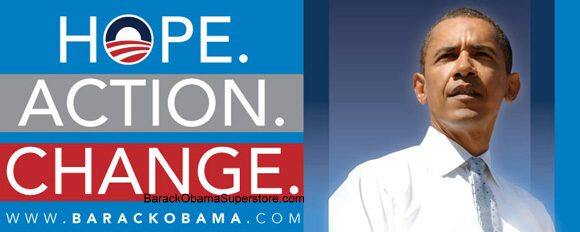 FABULOUS BARACK OBAMA OVERSIZE CAMPAIGN BANNER - COLLECTION 2