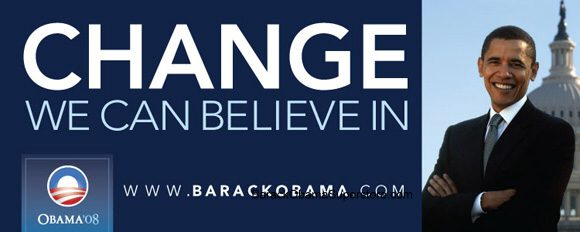 FABULOUS BARACK OBAMA OVERSIZE CAMPAIGN BANNER - COLLECTIBLE 3