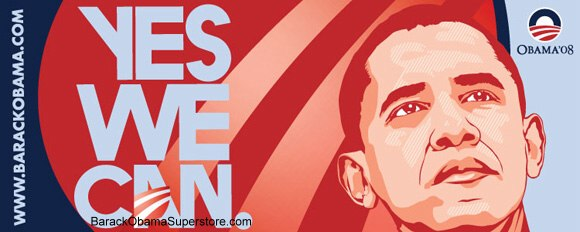 FABULOUS BARACK OBAMA OVERSIZE CAMPAIGN BANNER - COLLECTIBLE 7