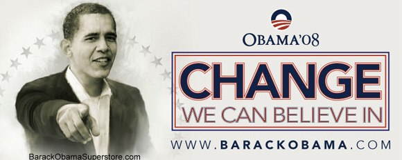 FABULOUS BARACK OBAMA OVERSIZE CAMPAIGN BANNER - COLLECTIBLE 8