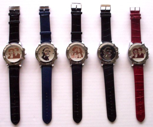 FABULOUS COLLECTIBLE METALLIC FACE BARACK OBAMA WRIST WATCH