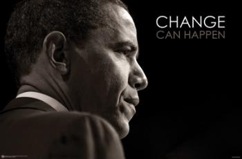 BARACK OBAMA CHANGE PORTRAIT