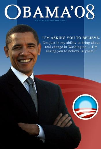 FAB BARACK OBAMA  COLLECTIBLE CAMPAIGN POSTER