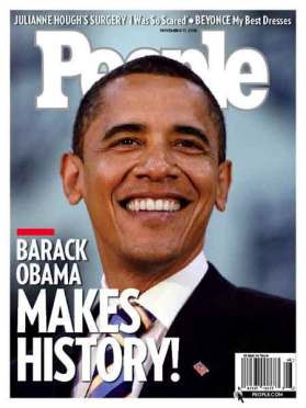 PEOPLE MAGAZINE BARACK OBAMA COVER ISSUE 2008