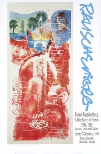 ROBERT RAUSCHENBERG 1990's ART EXHIBITION LITHO